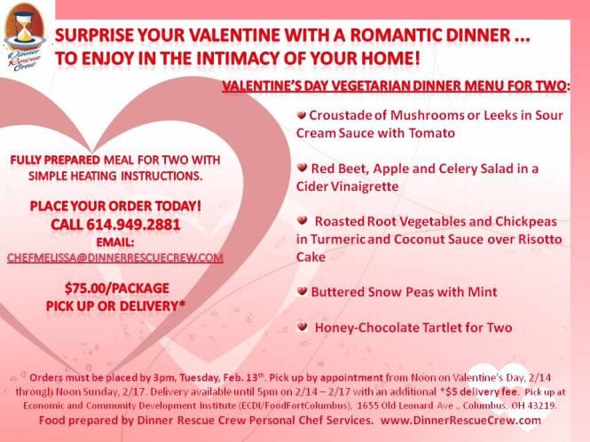 Valentine's Day Vegetarian Menu